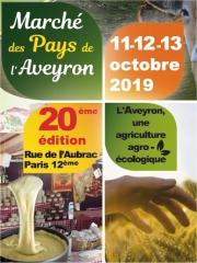 Marché des Pays de l'Aveyron du 11 au 13 octobre 2019 dans le quartier de Bercy (Village)