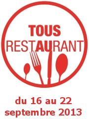 Tous au Restaurant du 16 au 22 sept. 2013
