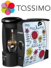 La machine Tassimo T40 habillée par la créatrice 100drine