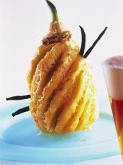 Recette Ananas rôti au caramel de bière