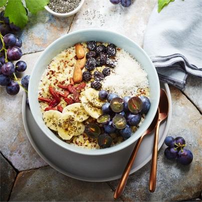 Bowl vitaminé des vendanges Photo : © Pierre Chivoret – Stylisme : Alexia Janny-Chivoret