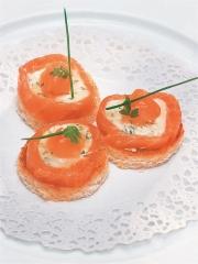 Recette Canapés de saumon à la Chavignolaise