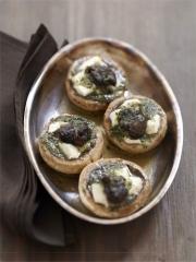 Recette Champignons farcis au Mâconnais et aux escargots de Bourgogne