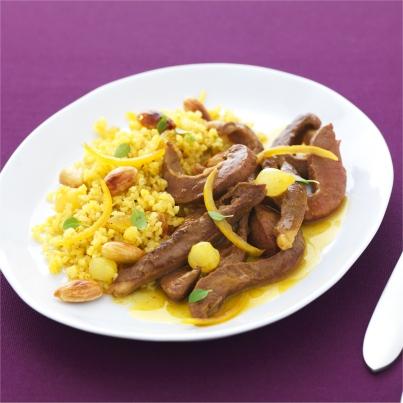 Curry de coeur de veau aux épices douces Photo : © INTERBEV / Produits Tripiers / Studio Mixture