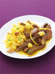 Curry de coeur de veau aux épices douces Photo : © INTERBEV / Produits Tripiers / Studio Mixture