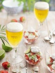 Recette Eton Mess Fraises, Crème citron vert et basilic
