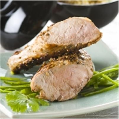 Filet mignon de porc rti la coriandre et l 39 ail - Filet mignon de porc grille au barbecue ...