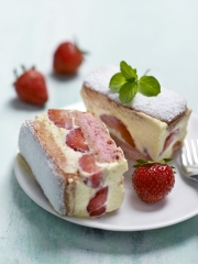 Recette Fraisier Express aux Biscuits Roses