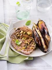 Recette Grillades de veau marinées au poivre vert et au basilic