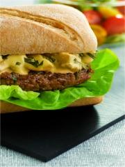 Recette Hamburger fondant à la sauce moutardée
