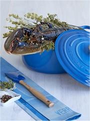Recette Homard bleu de Bretagne cuit en cocotte lutée aux vapeurs d'Origan des montagnes