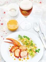 Recette Homard, Sauce au Corail, à la Bière de Noël