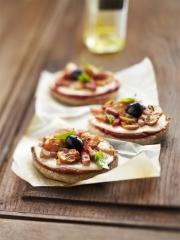 Recette Mini pizzas express aux champignons