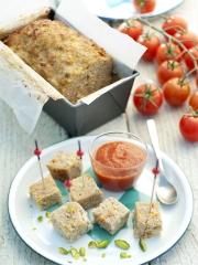 Recette Pain de veau aux tomates confites et pistaches