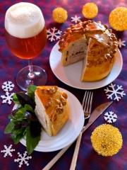 Recette Pâté en croûte volaille et foie gras