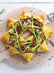 Recette Pizza soleil primavera, asperges, épinards, courgettes
