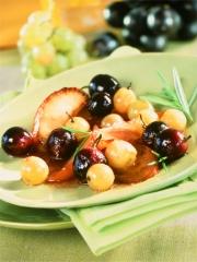 Recette Poêlée de raisins au miel et au romarin