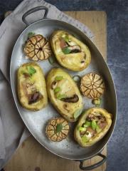 Recette Pommes de terres farcies à la Raclette