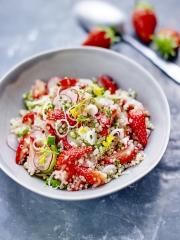Recette Taboulé de quinoa aux fraises de France