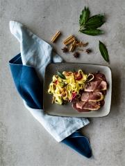 Recette Tagliatelles au beurre épicé et magret de canard au Porto