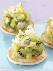 Recette Tartare de kiwi de l'Adour et crevettes à la citronnelle